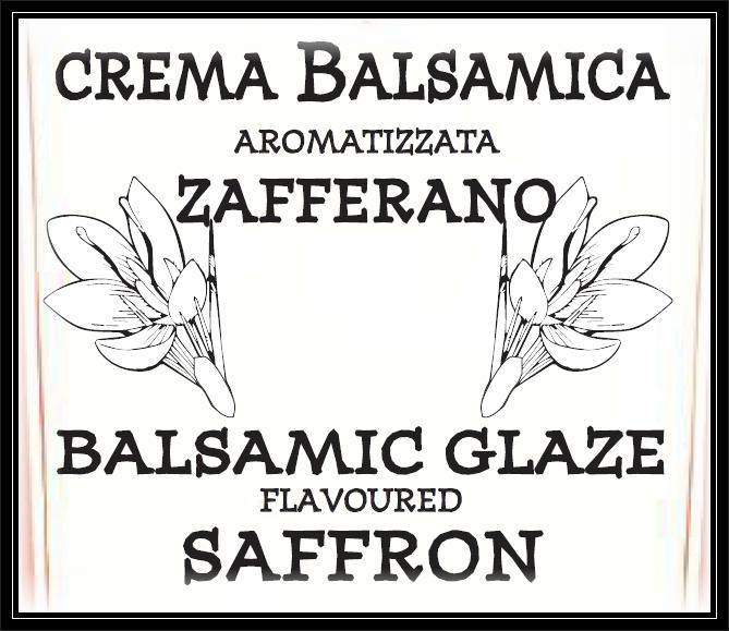 Crema Balsamica Bianca allo ZAFFERANO 220g - 1
