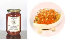 DF0627: White Balsamic PEARLS - RASPBERRY- 370g