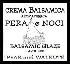 Line BALSAMIC CREAMS & GLAZES - Balsamic Glaze flavoured PEAR & WALNUT 220g